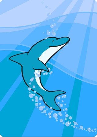 Dolphin in the sea Vector