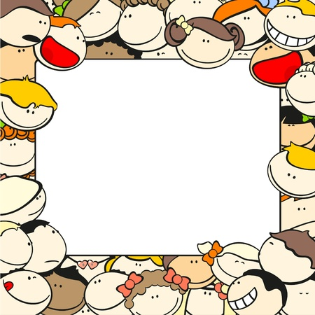 cute border: Background with funny kids