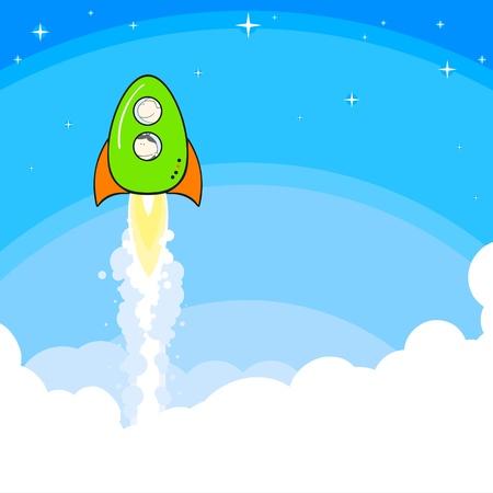 Rocket launch Stock Vector - 12196445