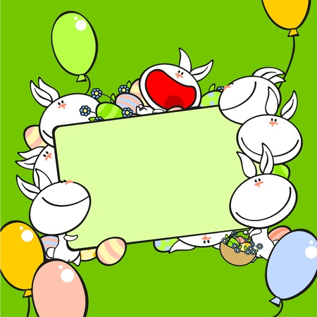 cartoon easter: Easter frame