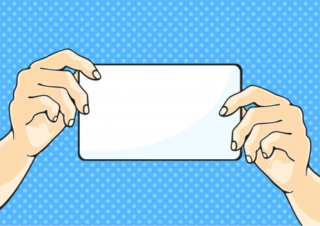 Illustration of hands holding a paper sheet Vector