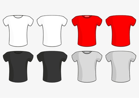 tee shirt: Male T-shirt Illustration