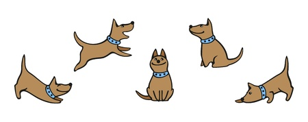 Set of images of a dog Stock Vector - 14828120
