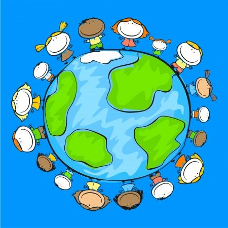 planeta tierra feliz: La gente en el planeta