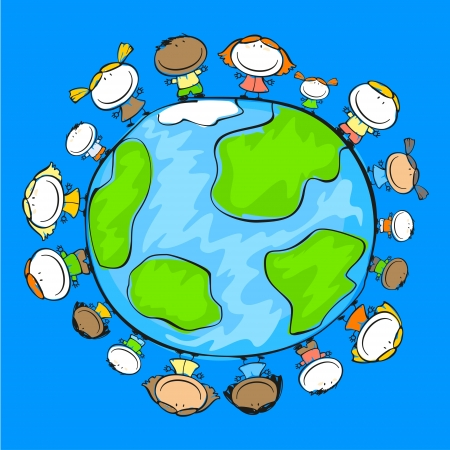 People on the planet Stock Vector - 14828123