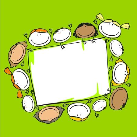 Kids frame Ilustrace