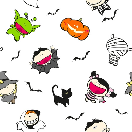 Seamless Halloween pattern Stock Vector - 15033975