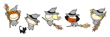 brujas caricatura: Ni�os divertidos # 66 - brujas