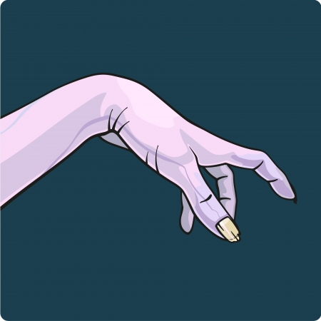 Hand of a zombie Vector