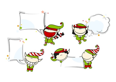 Funny kids #69 - Christmas backgrounds Stock Vector - 16715759