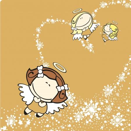 angeles bebe: Ángeles de la Navidad Vectores