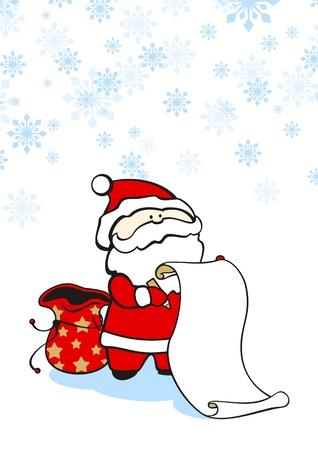 Santa Claus checking the list