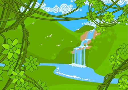 clima tropical: Cascada Vectores