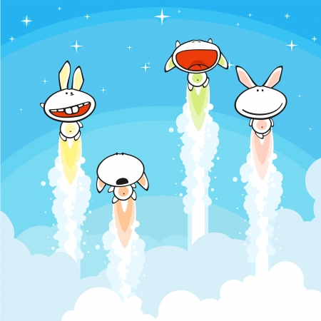 Bunnies launch Vector