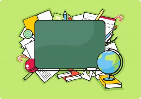 School background, horizontal Stock Vector - 21524438