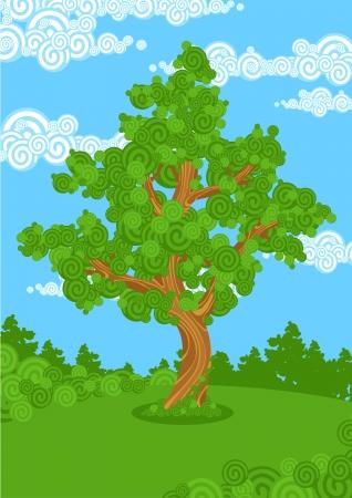 big tree: Big tree Illustration