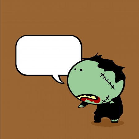Background with talking zombie Vector