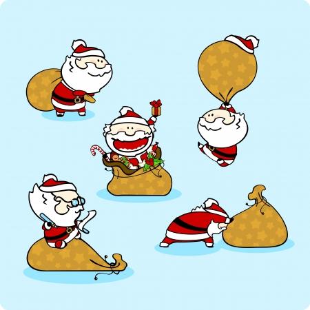 winterberry: Santa Claus - set 2 Illustration