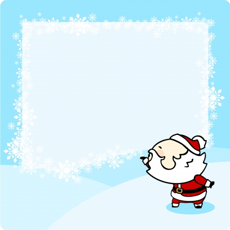 snowbank: Christmas card with a snow frame Illustration