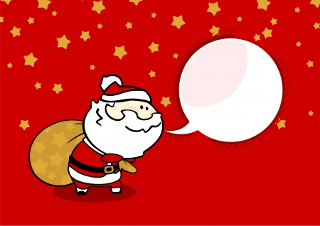bagful: Santa with a sack of presents Illustration