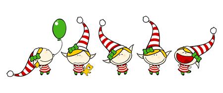 Funny kids 75 - elf girl 向量圖像