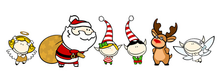 funny people: Funny kids 76 - Christmas characters Illustration