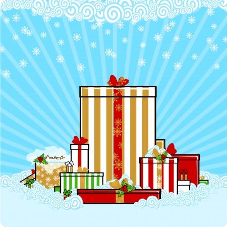 snowbank: Christmas presents