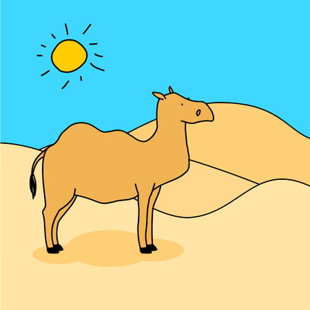 nomad: Camel Illustration