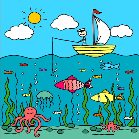 algas marinas: Pesca