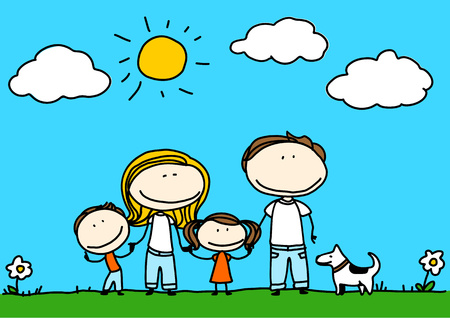 love picture: Family Illustration