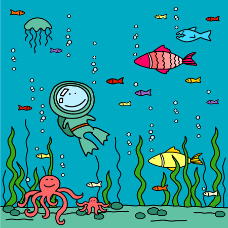 Diver Vector