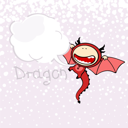 happy people white background: Chinese Zodiac signs - the Dragon