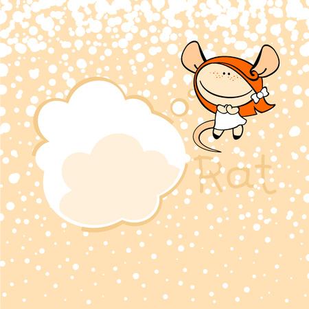 rata caricatura: Signos del zodiaco chino - la Rata