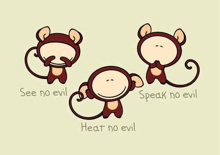 buddhist: Three wise monkeys Illustration
