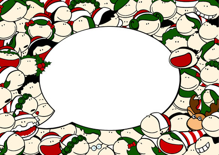 christmas hat: Christmas talk Illustration