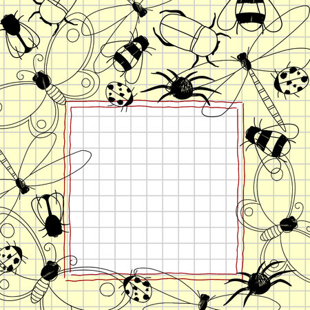 cartoon spider: Doodles frame