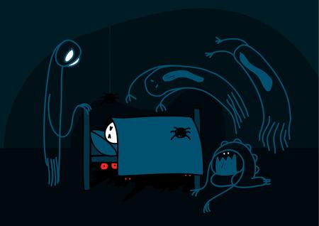 Nightmare Векторная Иллюстрация