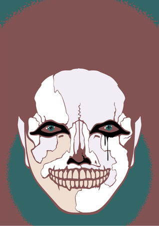bad eyes: Scary clown Illustration