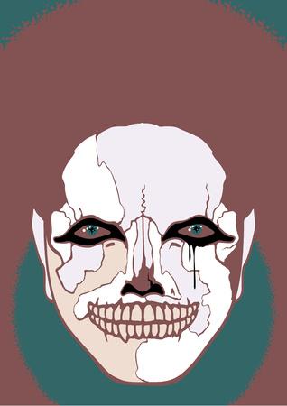 carny: Scary clown Illustration