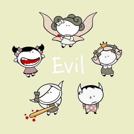estrella caricatura: ni�os divertidos - 83 criaturas del mal