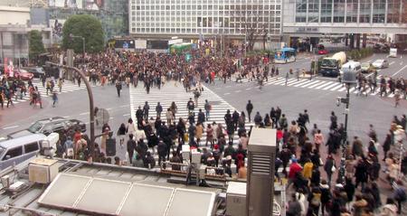 poblacion: Tokio poblaci�n multitud Shibuya Junction