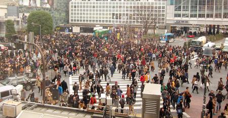 poblacion: Tokio población multitud Shibuya Junction