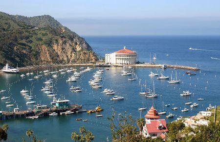 catalina: Avalon Bay dalle colline su Catalina Island