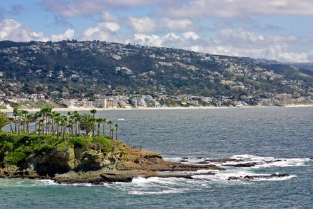 Crescent Bay looking south towards Main Beach in Laguna California Stock Photo