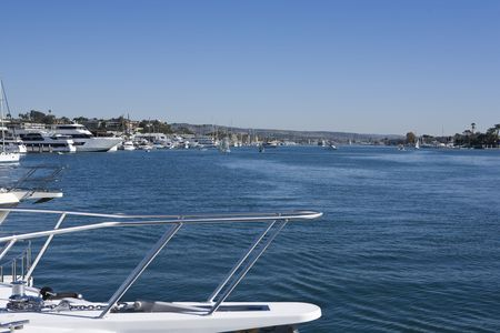 newport: Newport Bay with Yachts and Boats
