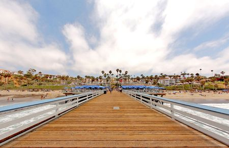 Wide Angle San Clemente Pier photo