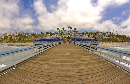San Clemente Pier Wide Angle with Copy Space photo