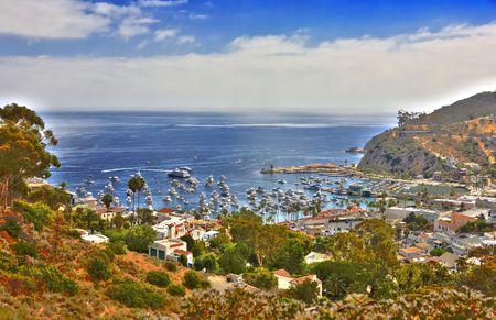 catalina: Immagine HDR di Avalon Santa Catalina Island  Archivio Fotografico