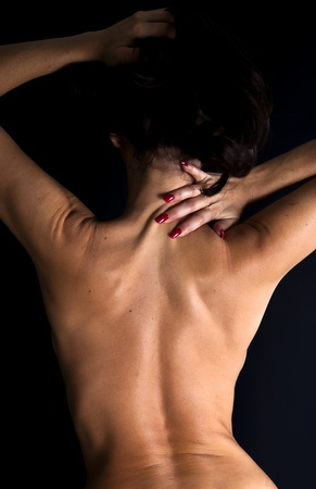 back of woman: Muscular hembra volver