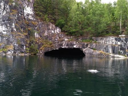 Ruskeala marble quarry in Karelia